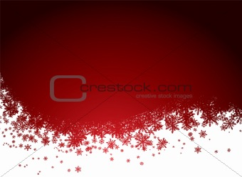 red snow background