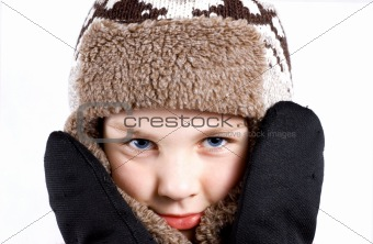 boy in winter cap