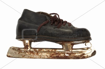 old and rusty skates