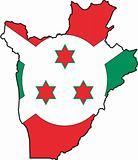 Map Burundi- Vector
