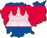 Map Cambodia- Vector