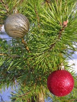 Christmas balls on the tree