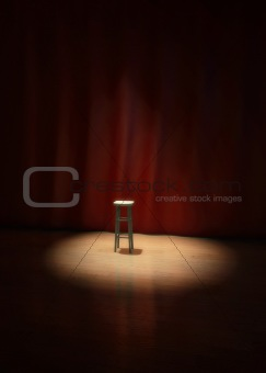 lonely stage stool