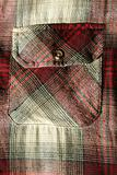 Red flannel shirt pocket