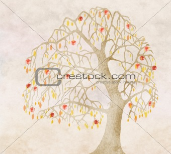 autumn for an old apple tree