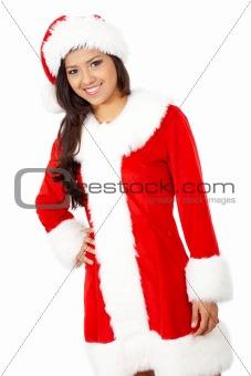 female christmas santa