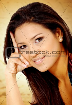 fashion hispanic woman portrait