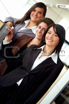 female business team in an office
