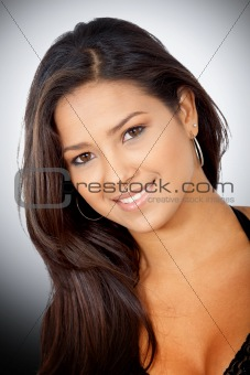 fashion hispanic girl portrait