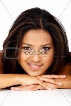 beauty portrait of a hispanic girl