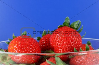 Bowl of organic strawberries