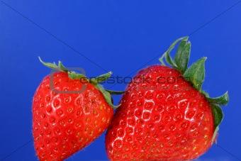 Pair of organic strawberries