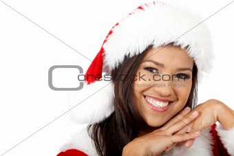 beautiful friendly santa portrait