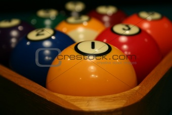Racked Billiard Balls