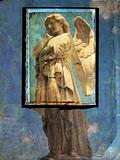 Angel postcard - grunge background