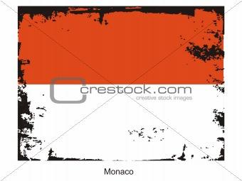 Monaco grungel flag