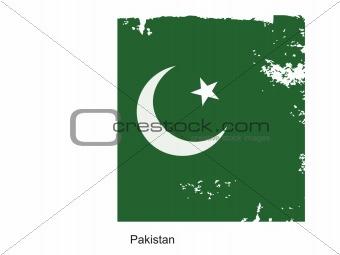 Pakistan grungel Flag