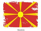 The flag of Macedonia