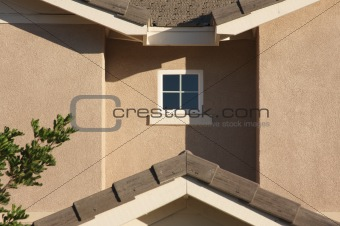 Abstract of New Home Construction Facade