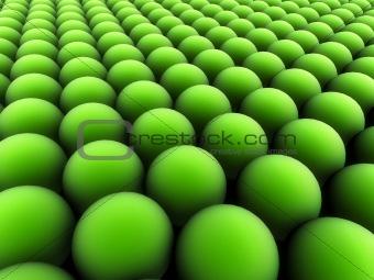 green blobs