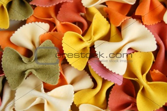 farfalle pasta food background