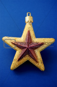 Christmas tree golden star decoration