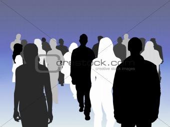 Crowd shades
