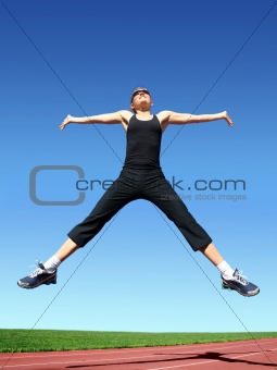 Jumping woman