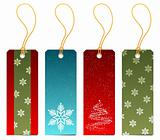 Set of Christmas gift tags