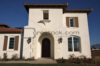 Abstract of New Home Construction Facade
