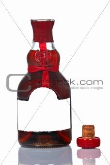 Brandy bottle opened