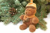 xmas tree and teddy bear