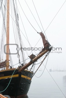 Pirate Ship in Fog