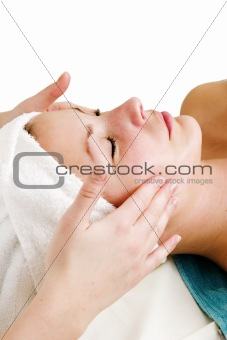Face Massage at Spa