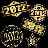2012 Gold new year stamps