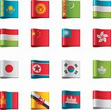 Vector flags. Asia, part 6