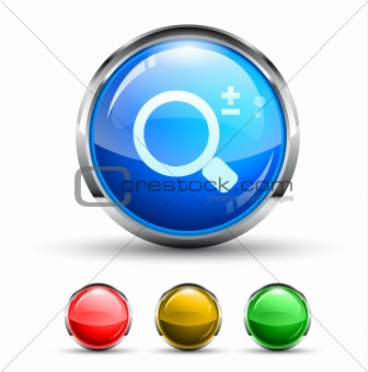 Search Cristal Glossy Button