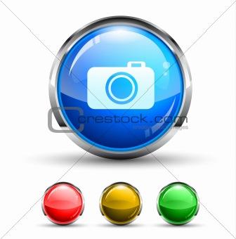 Camera Cristal Glossy Button