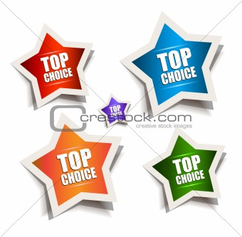Star bubble speech with Best Choice motive