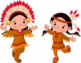 American Indians dancing 