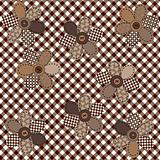 Brown table cloth with flowers
