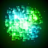 Green abstract square background
