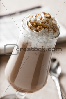 Chocolate Milk Shake with Whipped Cream