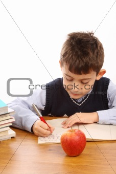 schoolboy write