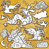 Dragons icon set