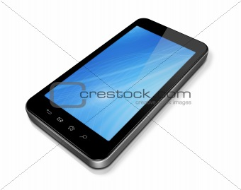 3D mobile phone, pda isolated on white