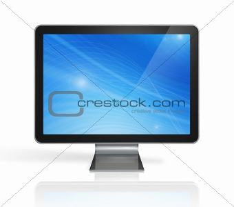 3D computer, television screen