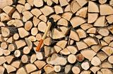 Stack of Woods and Axe