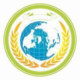 A globe stamp