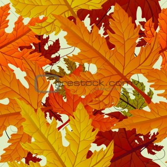 Autumn background, seamless tile with maple leaves